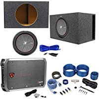 Kicker 43CWR152 COMPR15 15 1600W Subwoofer+Vented Box+Mono Amplifier+Amp Kit