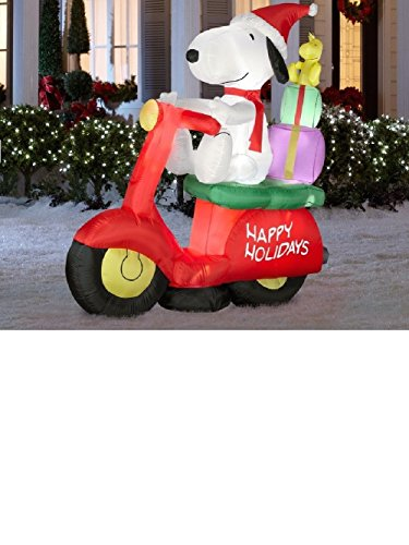 snoopy christmas inflatables outdoor - Snoopy Christmas Outdoor Decorations