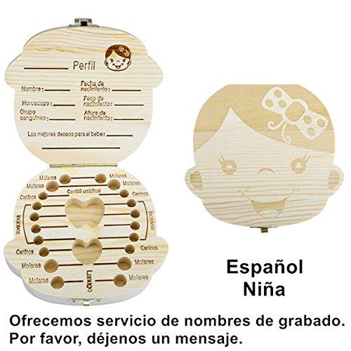 Amazon.com : Espanol English Baby Teeth Box Organizer Save Milk ...