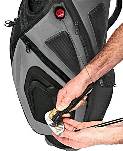 Groove Doctor - Retractable Brush and Groove Cleaner for Golf Clubs and Cleats