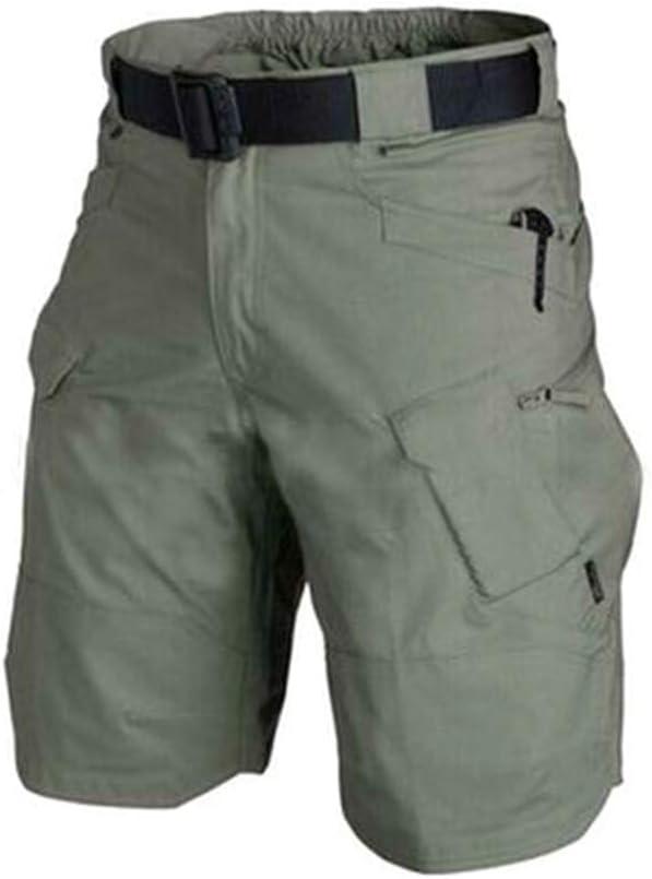 Nero Alftek Urban Cargo Shorts Cotone Esterno Camouflage Pantaloncini Corti da Uomo 2XL
