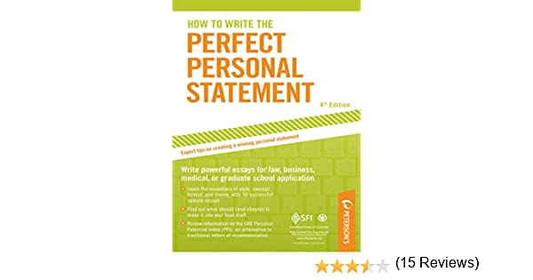 Amazon.com: How to Write the Perfect Personal Statement ...
