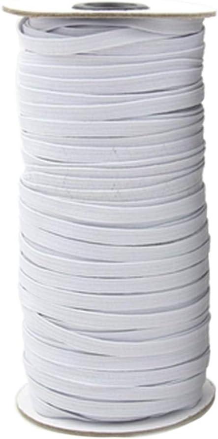 accesorios de tela de costura blanco cord/ón el/ástico el/ástico para cintura Banda el/ástica plana de 6 mm y 100 metros manualidades