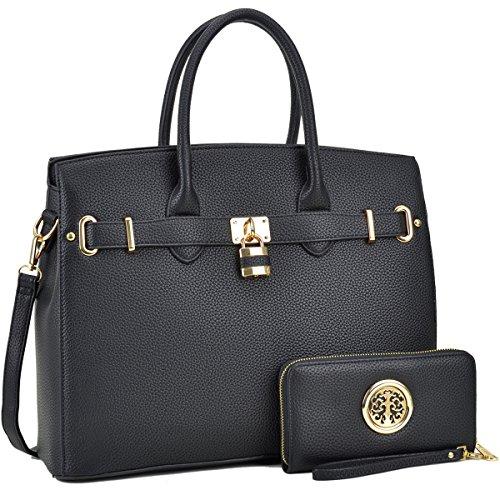 DASEIN Women's Purses and Handbags Shoulder Bags Ladies Designer Tote Bags Padlock...