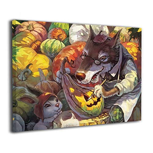 Hot-Art Happy Halloween Wolf Family Wall Art Abstract Paintings The Picture Print On Canvas Oil Painting Modern Wall Art for Home Decor