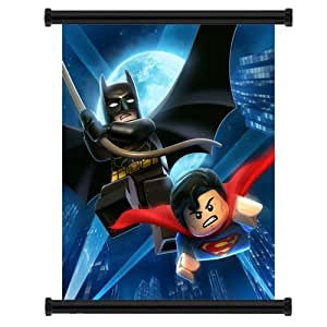 "Lego Batman Superman Game Fabric Wall Scroll Poster (32""x36"") Inches by Wall Scrolls"