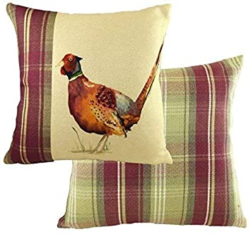 d445c6bc8a4 EVANS LICHFIELD HEATHER HIGHLAND PHEASANT GAME BIRD HAND PAINTED ANIMALS  CUSHION COVER 17 quot  ...