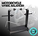 SKEMiDEX---MOTORCYCLE STATIC TRUING STAND HIGH GRADE STEEL WHEEL BALANCER TIRE MX DIRT BIKE. Perfect for most Harley's, Cruisers, Sport bikes, MX dirt bikes and other motorcycles