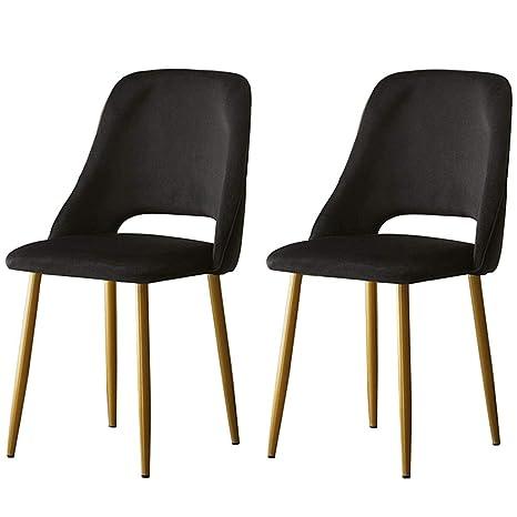 Amazon.com: LHHL - Juego de 2 sillas de hierro de terciopelo ...