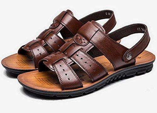 Vocni Mens Open Toe Casual Comfort In Pelle Scarpe Sandali Uomo Sandali Uomo Open Toe Sandali Plus Size Marrone