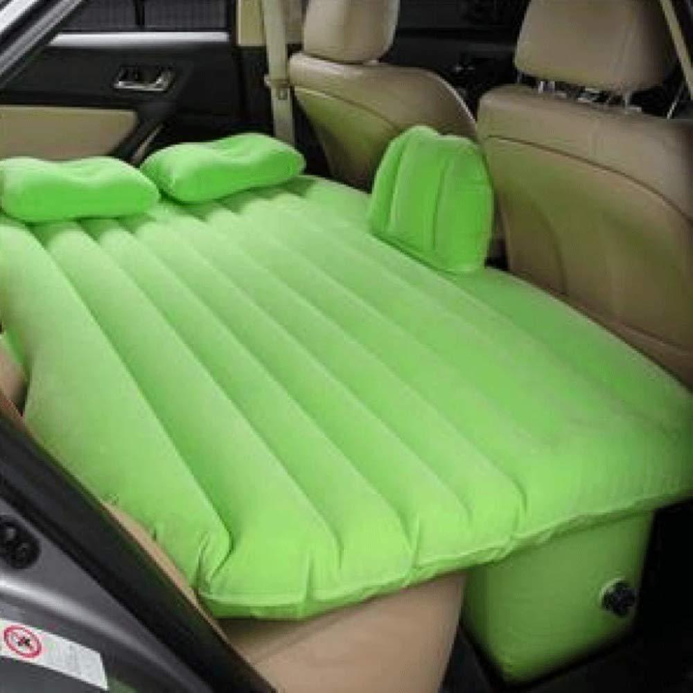 ERHANG Auto-aufblasbare Matratze Auto-Luft-Bett-Kissen-bewegliches Gepolstertes Kampierendes Luft-Bett-Reise-Schlaf-Rest,Grün