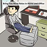 HOMCA Travel Foot Rest Pillow, Inflatable Adjustable Height Pillow for Foot Rest on Airplanes, Cars, Buses, Trains, Office, and Kids to Sleep on Long Flights