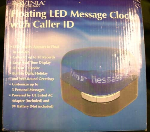 Floating LED Message Clock with Caller ID