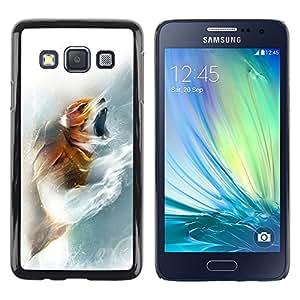 """For Samsung Galaxy A3 , S-type Fox Rugido"""" - Arte & diseño plástico duro Fundas Cover Cubre Hard Case Cover"""