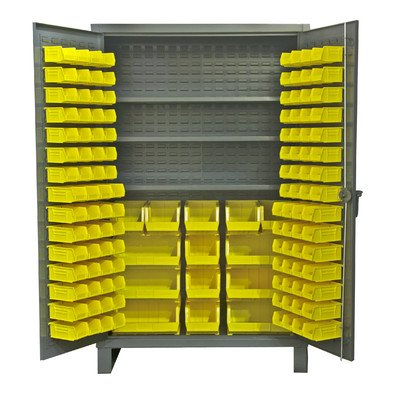 Durham Extra Heavy Duty Welded 12 Gauge Steel Cabinet With 134 Bins, HDC48-134-3S95,  1200 lbs Shelf Capacity,  24