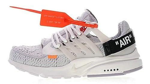 Virgil Abloh Off White X Air Presto OW Grey Black Orange White Aa3830 001 Zapatillas de Running para Hombre Mujer: Amazon.es: Zapatos y complementos