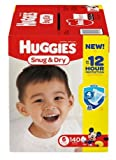 Size 6 Huggies Snug & Dry Diapers 140 ea -2 PK
