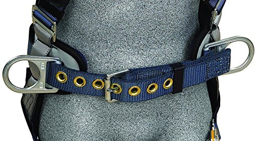 3M DBI-SALA ExoFit 1108500 Construction Harness, Back D-Ring, Sewn-In Back Pad & Belt w/Side D-Rings, Quick-Connect Buckles, Small, Blue/Gray by 3M Fall Protection Business (Image #2)