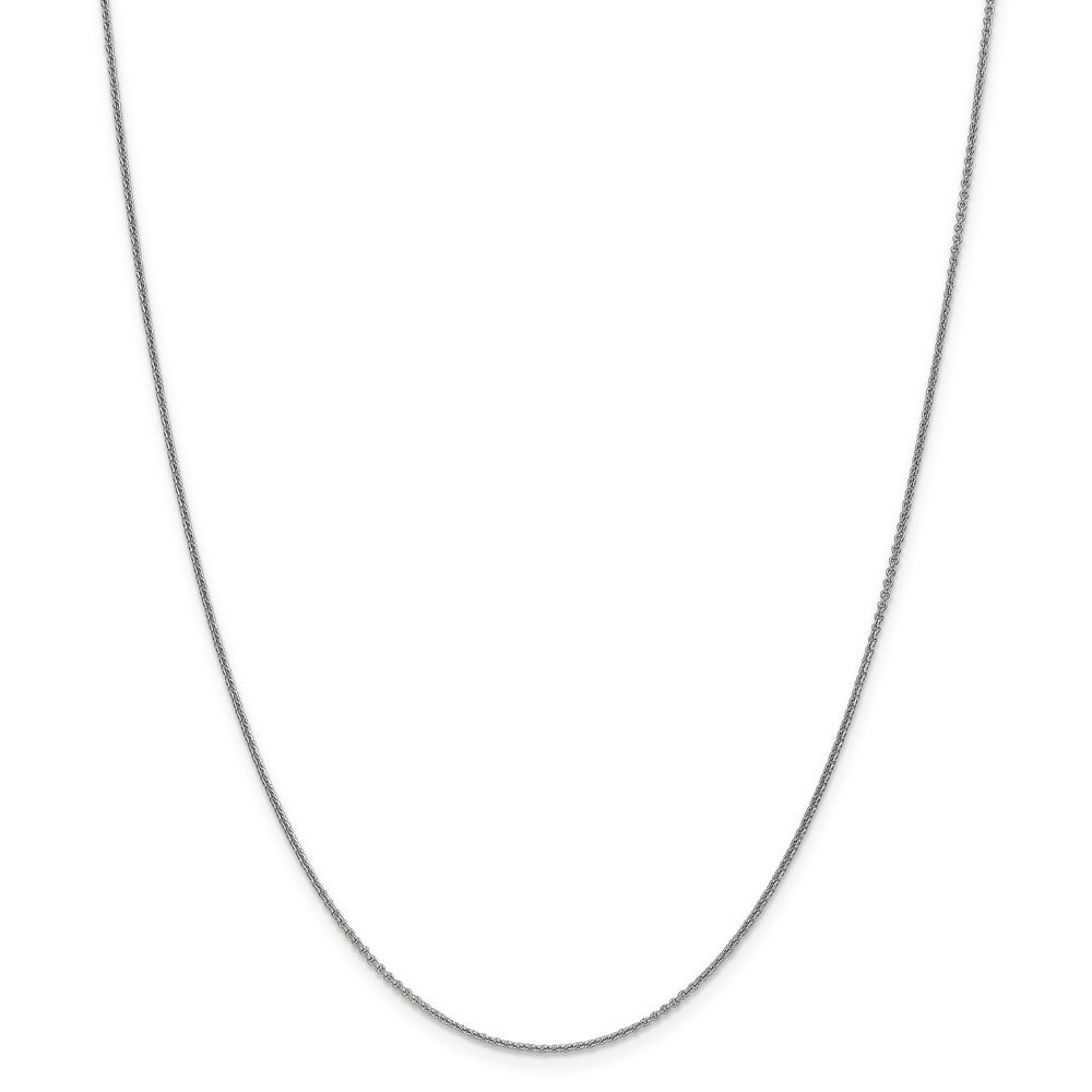 14k White Gold 1mm Cable Chain Necklace