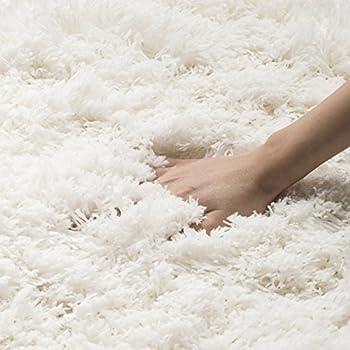Safavieh Polar Shag Collection PSG800B White Area Rug, 8 x 10