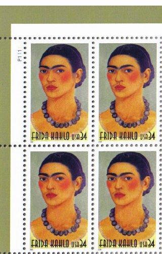 FRIDA KAHLO #3509 Plate Block of 4 x 34¢ US Postage -