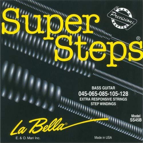 - La Bella SS45-B Super Steps, Standard Electric Bass 5-String Set (45-128)