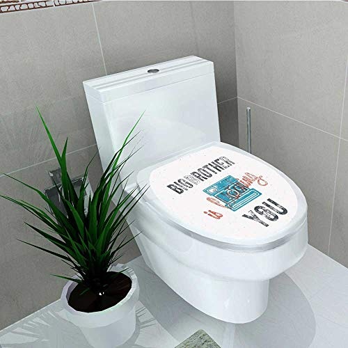 (Philip C. Williams Bathroom Toilet Half TonedBrother Analogue Camera Icon Web Print Blue Grey Vinyl Decal Sticker W14 x L16)