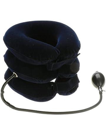 Glield 3 Capas Almohada Cervical Inflable Collar del Cuello y el Dolor Terapéutico QYQ01 (Azul