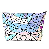 Sun Kea Geometric Bag Women Cross-Body Bag PU Shoulder Bag Chain Bag Laser Clutch Purse Bags(Laser)