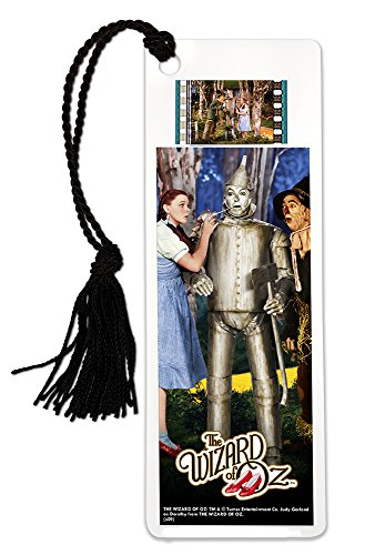 Dorothy Tin Man - FilmCells Wizard of Oz (Dorothy Scarecrow Tinman) Bookmark with Tassel and real 35mm film clip