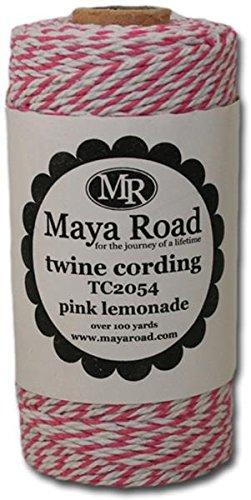Maya Road Twine Cording, Pink Lemonade