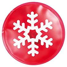 10 X Reusable Gel Hand Warmers - Instant Heating Heat Packs (Red with Snowflake Print)
