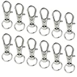 50 pcs Swivel Clasps Lanyard Snap Hook,cnomg Metal Swivel Lanyard Snap Hook Lobster Claw Clasp