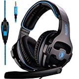 2016 Sades Newly Updated Xbox One Headset Over Ear Stereo Bass Gaming Headphone with Noise Isolation Microphone for New Xbox One PC PS4 Laptop Phone(Xmas Version)