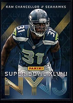 Football NFL 2014 Panini Seattle Seahawks Super Bowl XLVIII Champions #8 Kam Chancellor Seahawks