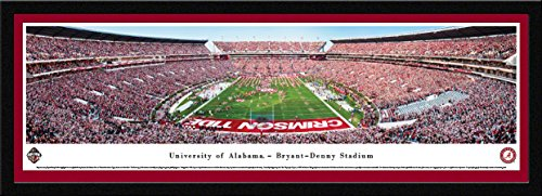 Iron Bowl 2016 (Alabama vs Auburn) - Blakeway Panoramas College Sports Posters with Select Frame ()