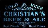 qs235-b Christian's Beer & Ale Vintage Design Bar Decor Neon Light Sign