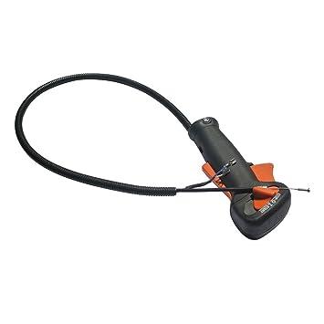 Cable de control del acelerador nuevo con interruptor adapta a Stihl FS120 FS200 FS250 Strimmer