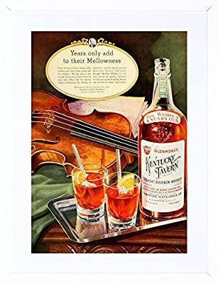 9x7 '' AD KENTUCKY TAVERN BOURBON WHISKEY GLENMORE FRAMED ART PRINT F97X1631