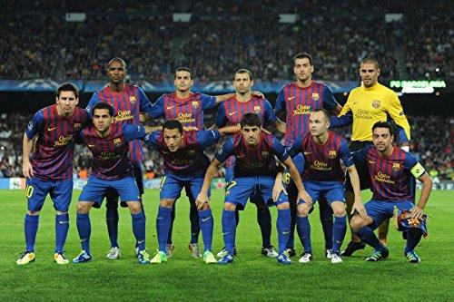 Gifts Delight Laminated 36x24 Poster: Barcelona v fc Viktoria Plzen UEFA Champions League fc Barcelona