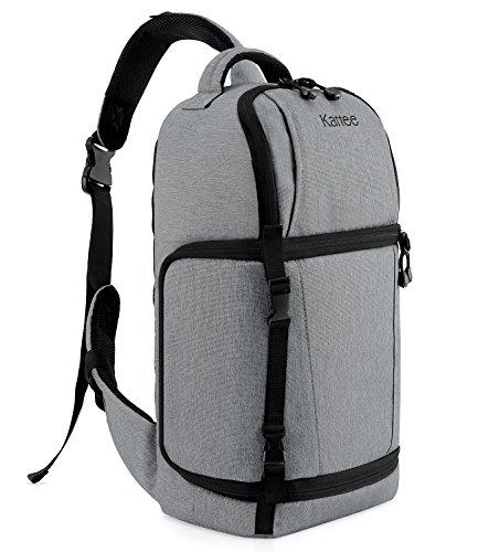 Kattee Waterproof DSLR Camera Bag Sling Backpack(Gray)