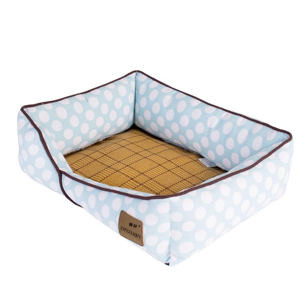 2 LargeDog Mat Cat Mat Kennel Sleeping Mat Pet Summer Ice Pad Cooling Mattress Four Seasons Comfortable Breathable,03,L