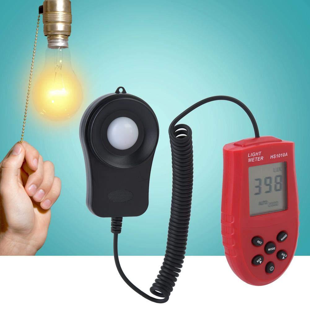 Handheld LCD Digital Light Meter Luxmeter, HS1010 2000/20000/200000 Lux Illuminometer Digital Light Meter LCD Display Light Power Meter by Wal front (Image #5)