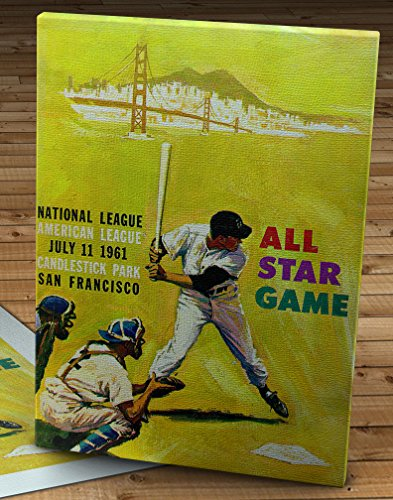 1961 Vintage San Francisco Giants -Candlestick Park All-Star Game Program - Canvas Gallery Wrap - 12 x 16