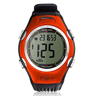 HeartQ Heart Rate Monitor (HRM) & Sports Watch, Premium Edition, Activity Tracker, Calorie Counter, Heart Rate Target In-Zone Timer, Stopwatch, Chronograph, EL Backlight, Chest Belt made of Polyurethane Fabric for Highest Comfort and Precision, Stylish De