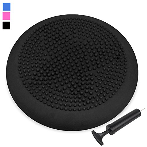 Trideer Air Stability Wobble Cushion with Free Pump,KIDS Wiggle Seat,Extra Thick Core Balance Disc, Improves Focus For Students (Office & Home & Classroom)