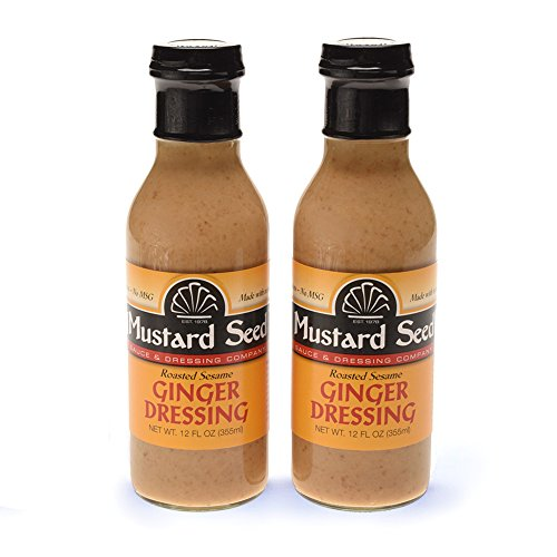 Lemon Sauce Mustard (Roasted Sesame Ginger Dressing | All Natural, No Trans Fats, MSG's or Preservatives | (12 Oz/2-Pack) | Salad Dressing | Marinade | Dipping Sauce)