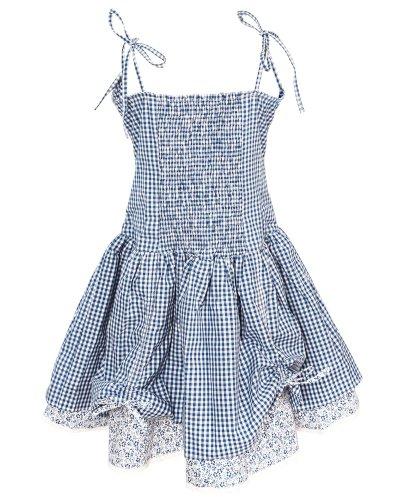 La-V Kleid mit Spaghettiträgern in Karooptik Dunkelblau rH0ec4rZh
