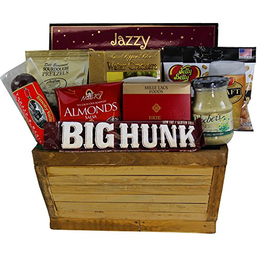 Manly Mans Meat and Snack Attack Gift Basket (Meat Gift Basket)
