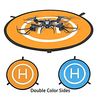 Tairoad Universal Drone Landing Pad - Portable Fast-Fold Mini Helipad for DJI Mavic Pro Phantom 2/3/4 Inspire 1 Quadcopters Gopro Kama Parrot 75mm with Carrying Bag